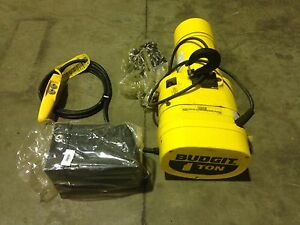 Budgit 1 Ton Electric Chain Hoist 230v 1ph 60hz Beh0116 Overhead Crane