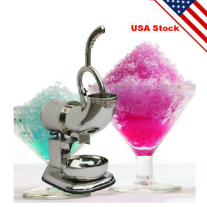 us Seller Ice Shaver Machine Snow Cone Maker Shaved Icee Electric Crusher Ce