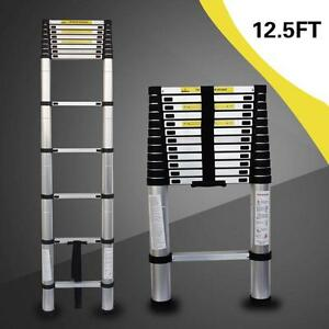 12 5ft Aluminium Telescopic Ladder Extension Foldable Steps Multi purpose
