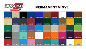 Oracal 651 Vinyl 12 Inches X 5 Yard Roll 50 Assorted Colors