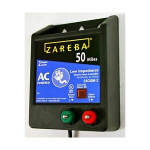 Zareba Eac50m z Ac powered Low impedence 50 mile range Charger No Tax