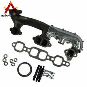 Right Exhaust Manifold With Heat Shield For Chevrolet Gmc Pickup Truck Suv 5 7l