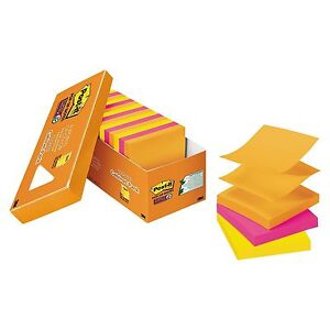 Post it Pop up Super Sticky Notes 3 X 3 Refill Rio De Janeiro Colors 90 Sheets