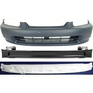 Bumper Cover Kit For 96 98 Honda Civic Front 3pc