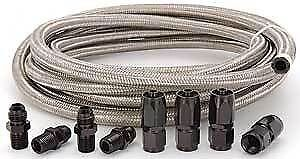 Automatic Transmission Cooler Line Kit 6an Steel Braided Hose Mopar Dodge 727