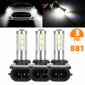 3pcs 881 Led Bulb Fog Driving Lights 881l 881x 889 862 894 896 6000k Xenon White
