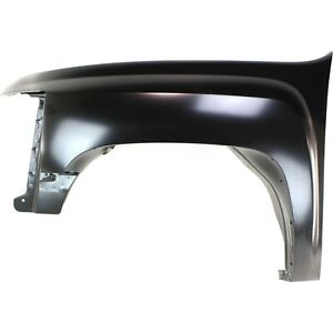 Fender For 2007 13 Chevrolet Silverado 1500 Front Driver Side Primed Steel Capa