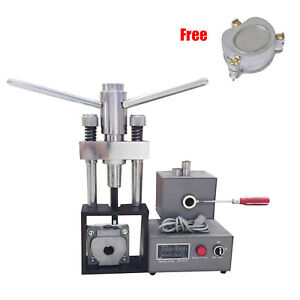Dental Flexible Denture Injection System Machine Lab Heater Hot Press Flask