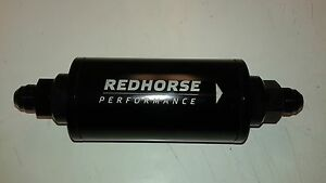 Redhorse In line Race Fuel Filter 6an 100 Micron 500psi Rating