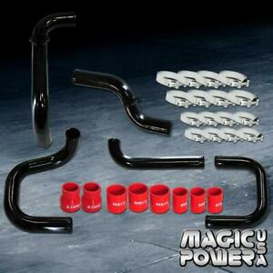 Black Intercooler Piping Red Couplers S rs Bov Flange Kit For 1996 2000 Civic