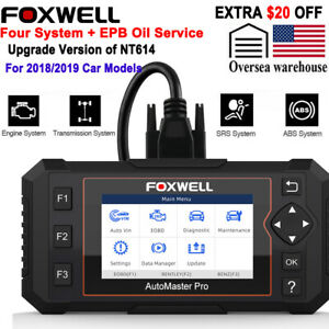 Foxwell Nt614 Elite Obdii Car Obd2 Scanner Diagnostic Scan Tool Abs Srs Epb Oil