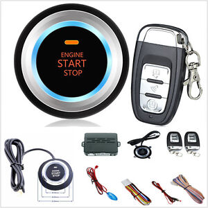 Car Suv Alarm System Security Push Button Remote Engine Start led Sensor Lights
