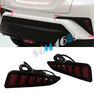 2016 2017 For Toyota C hr Accessories Led Car Rear Tail Fog Light Lamp 2pcs