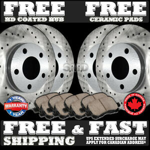 P0224 Acura Cl Type S Cross Drilled Brake Rotors And Pads Front Rear