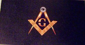Masonic Display Box Case Medal Pin Ring Jewel Badge Watch Fob Tool Key Lodge 33