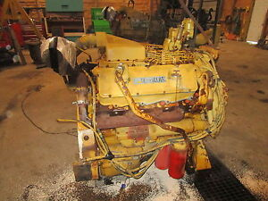 Caterpillar 3408 Diesel Engine Complete Takeout Nice V8 Cat