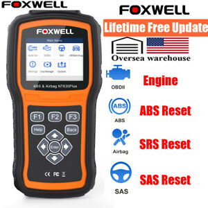 Foxwell Nt630 Abs Srs Sas Reset Obd2 Scanner Engine Fault Check Diagnostic Tool