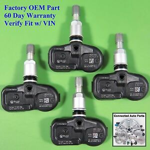 Set Of 4 Tire Pressure Sensor Tpms Oem 40700 jk01b W o Intelligent Key Set ts51