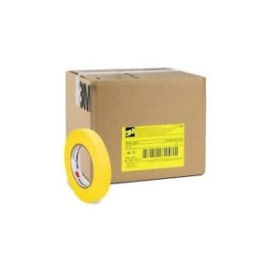 3m 06652 Crepe Paper Automotive Refinish Tape 3 4 Inch 48 Pack Yellow