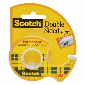 Scotch Double Sided Tape With Dispenser 3 4 X 300 Inches Case Of 24