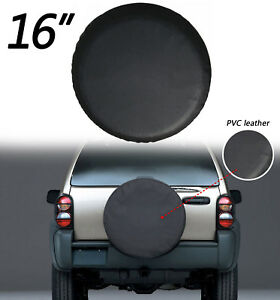 16 Black Car Spare Tire Tyre Wheel Cover For Jeep Liberty Wrangler E1