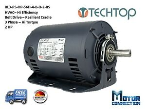 2 Hp Electric Motor Hvac 3 Phase 56h 1800 Rpm