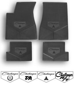 1970 1974 Dodge Challenger Custom Rubber Floor Mats Choose Mat Color And Logo