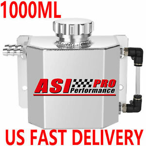 Universal 1l Aluminum Coolant Radiator Overflow Recovery Water Tank Polished Usa