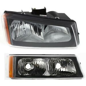 Headlight Kit For 2003 2006 Chevrolet Silverado 1500 Silverado 3500 Right 2pc