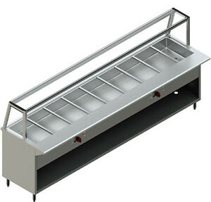 New Restaurant Stainless Steel 9 Steam Table Nat Gas Modle Pbts 9g