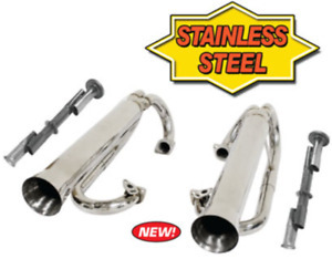 Stainless Steel Racing Duals Without Inserts Vw Dune Buggy Bug Empi 56 3759