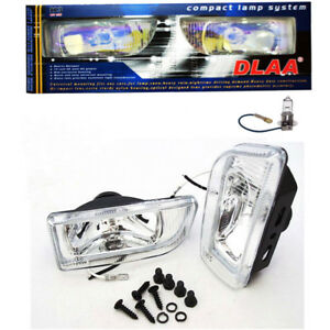 Dlaa Universal Fog Lamp Light Spot H3 12v 55w Clear White Len 2 Dlaa166 Usa