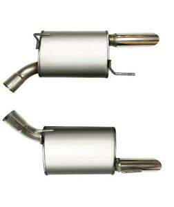 Set Of Stainless Steel Mufflers Fits 2005 2010 Ford Mustang V8