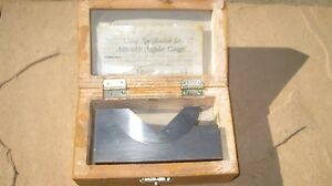 Adjustable Angle V Block Machinist Tool Wilson Wolpert