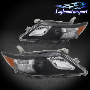 For 2010 2011 Toyota Camry Factory Style Black Projcetor Replacement Headlights