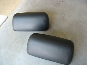 Vw Beetle Convertible Black Leather Rear Bench Headrest 1998 2009
