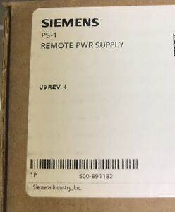 Siemens Ps 1 Fire Alarm 500 891182 Remote Power Supply New Rev4 Ps1