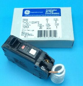 New Circuit Breaker Ge Thql1120af2 Combination Afci 20 Amp 1p 120v Thql1120afp2