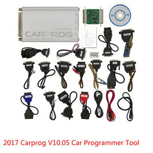 New 2017 Carprog V10 05 Full Version With 21 Items Adapter Car Programmer Tool