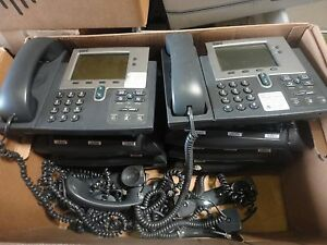 Lot Of 20 Cisco Cp 7940g Ip Phones 7940 Unifies Voip W Handset