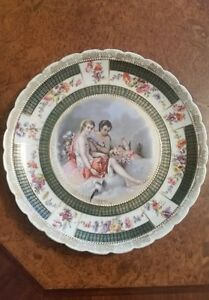 Signed F Boucher Royal Vienna Hand Painted Porcelain Figural Plate C 1700 S 10