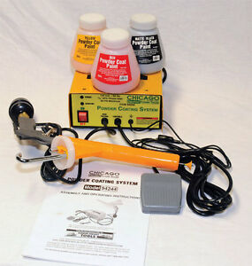 Complete 10 30 Psi Powder Coating System Black red yellow Colors Included