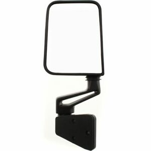 Black Manual Left Door Mirror For 1987 2002 Jeep Wrangler Truck Driver Side View