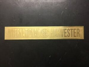 New Ihc International Harvester Etched Brass Tag Antique Gas Engine Hit Miss