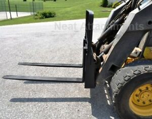 48 Hd Skid Steer Pallet Forks 4000 Lbs Capacity For Bobcat