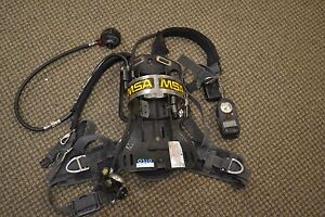 Lot Of 5 Msa Firehawk Scba Air Pack With Mask
