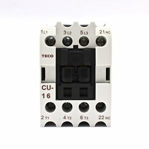 Teco Cu 16 Magnetic Contactor 220vac Coil Voltage 3a1b Contacts Nc