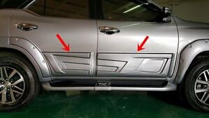Toyota Fortuner 2015 17 Side Doors Guard Body Cladding Trims Black Or Body Color