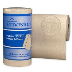 Gpc 28290 Perforated Paper Towel 11 X 8 4 5 Brown 250 roll 12 packs carton