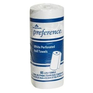 Gpc 27385 Perforated Paper Towel Roll 8 4 5 X 11 White 85 roll 30 Rolls cs